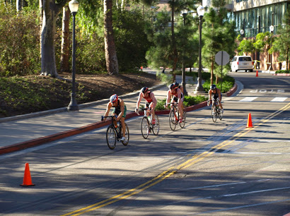 Stanford men on the bike course at UCLA